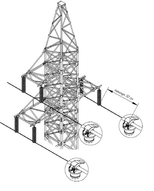 Схема установки индикаторов короткого замыкания на воздушные линии высокого напряжения 110 кВ