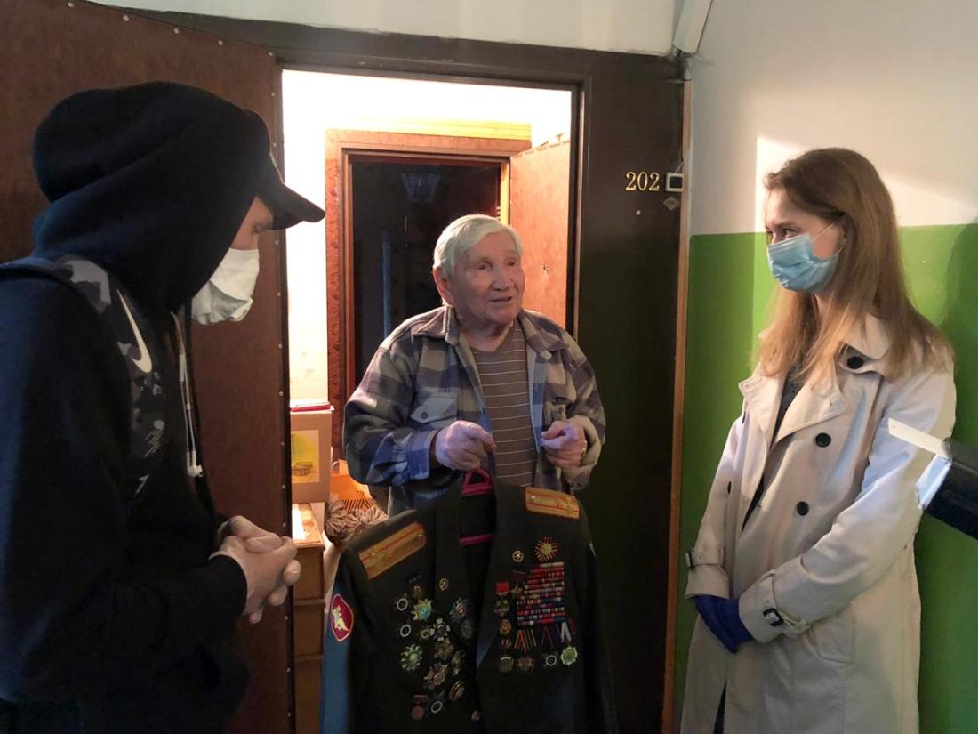 Вручение подарков ветеранам на 75-летие Победы. ГК АНТРАКС